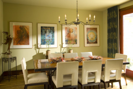 1 hill country modern dining room
